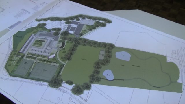 The plan of the new School build