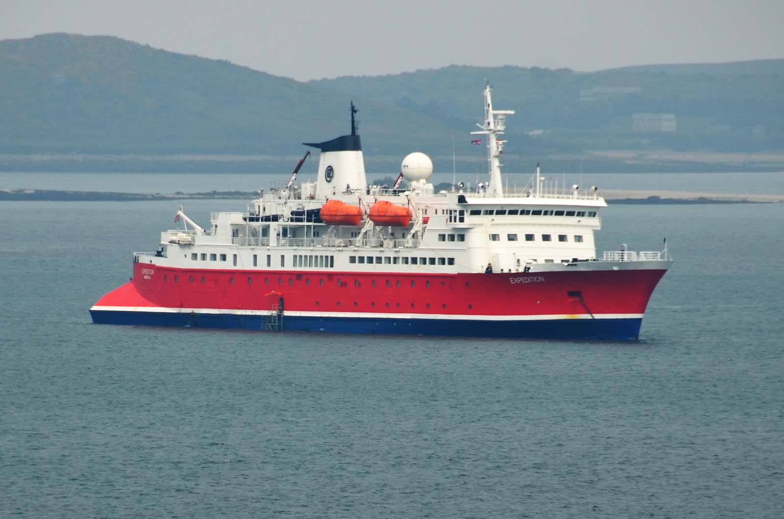 Cruise Ship MS Expedition Visiting Scilly  Scilly Today