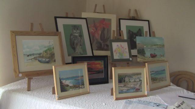art group display at maypole