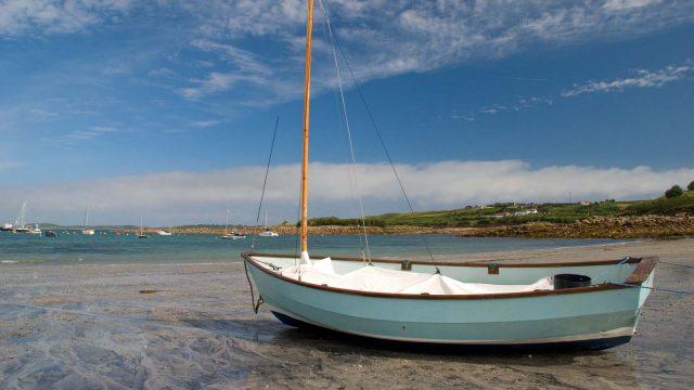 sailboat on beach