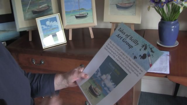 the art group exhibt at maypole challenge to draw the tourism brochure front