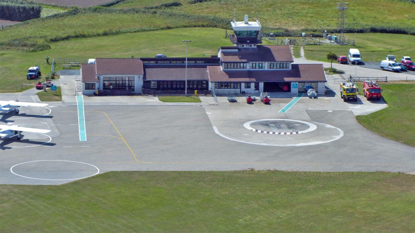 airport terminal from above