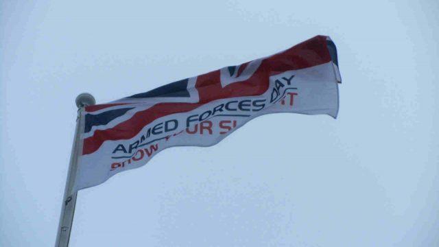 armed forces flag raise