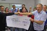 Wine Club Hands Cheque For £500 To Shelterbox