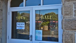 town hall windows sign