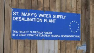 desalination plant sign