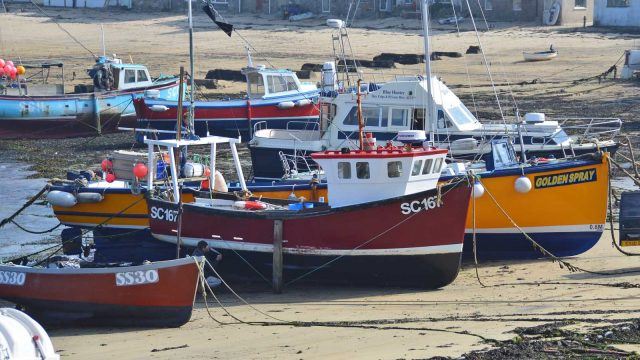 boats on town beach
