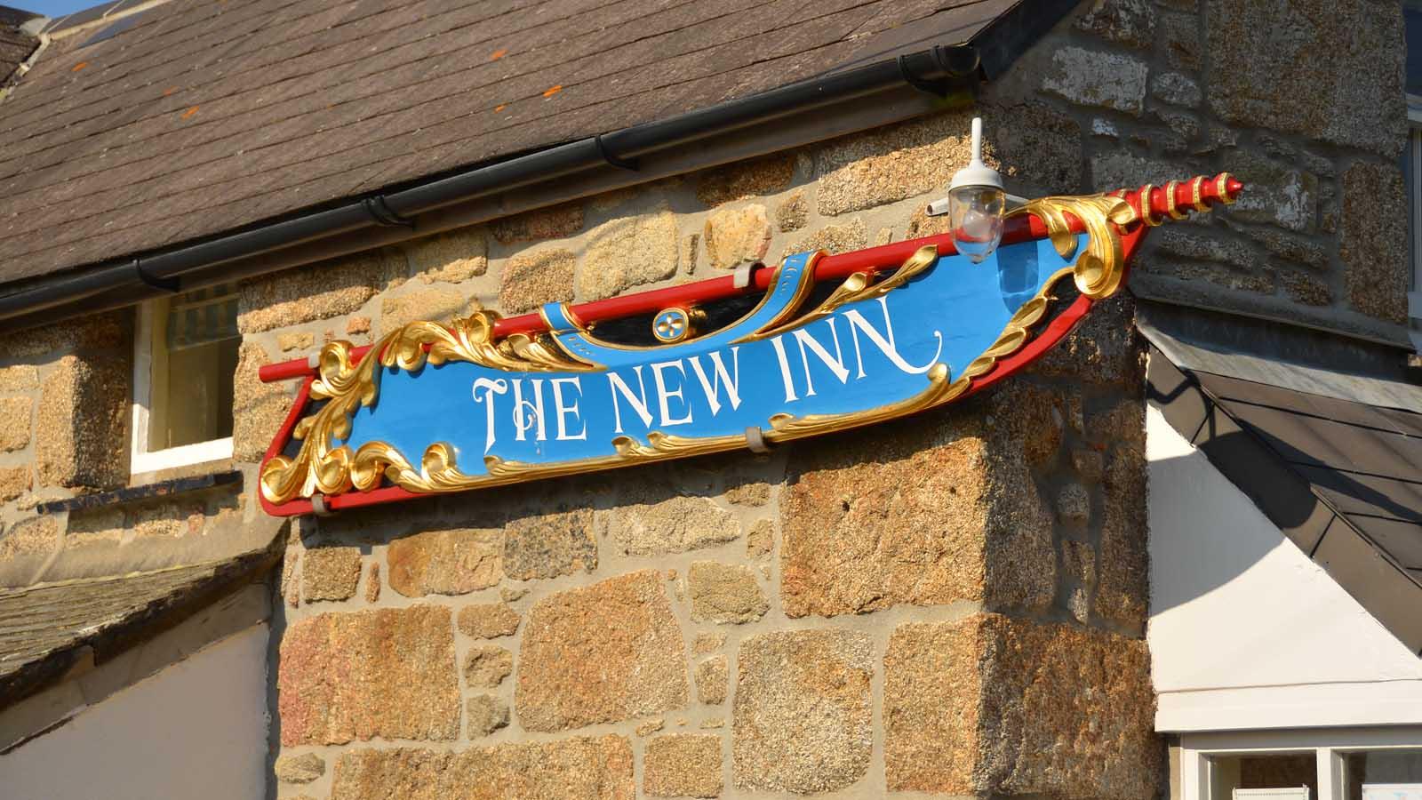 tresco new inn sign
