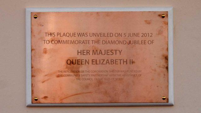 coronation shelter plaque