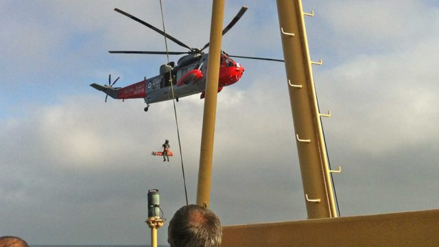 helicopter scillonian rescue pic by amanda cook