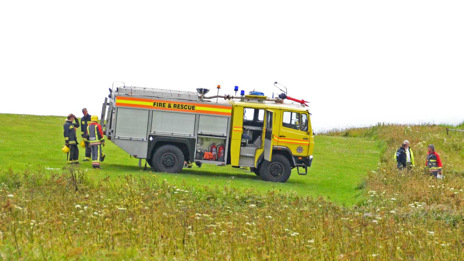 airport fire tender yellow