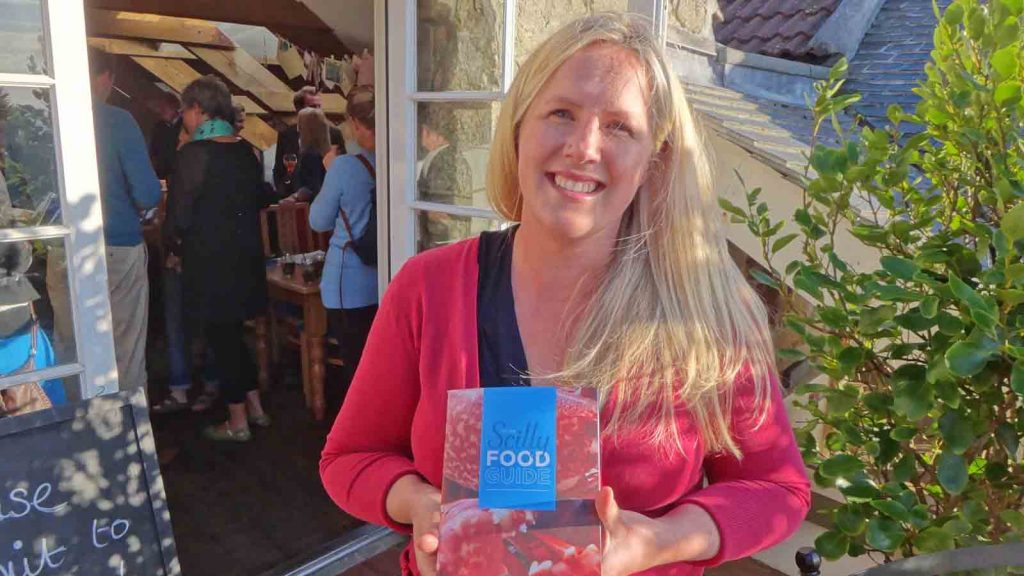 Issy Tibbs with the new Little Scilly Food Guide