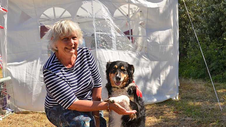 Best in Show Pip with owner Pamela Freeborn