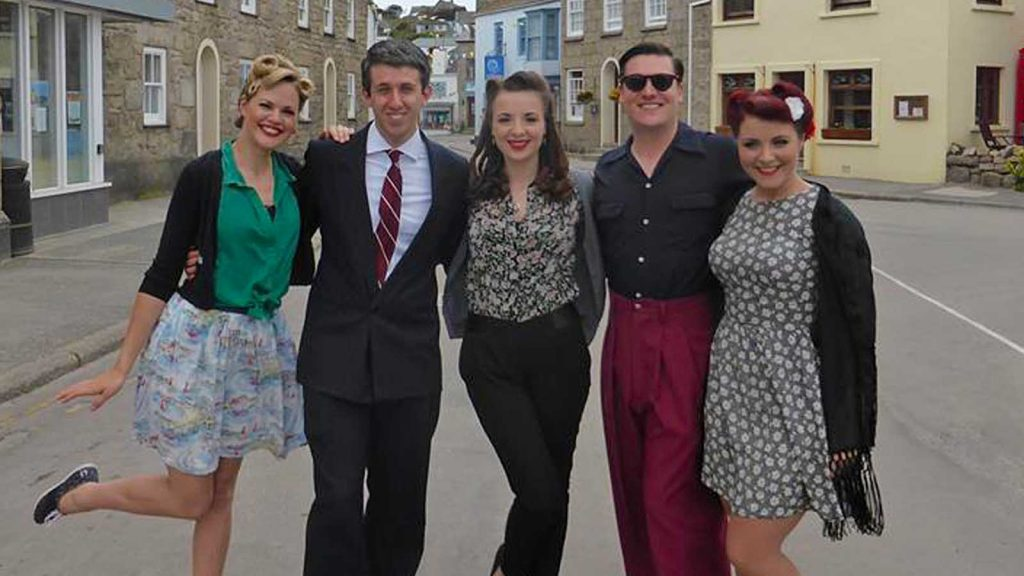 The Three Belles with the Bevan Boys