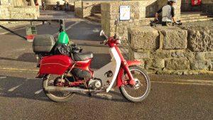 Alan's Honda moped