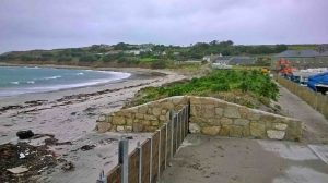Porthloo sea defences. Photo by Blackwell Building Services.