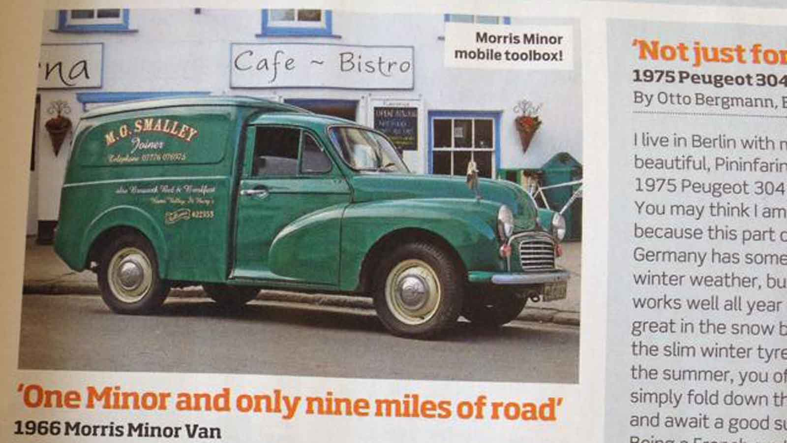 Martyn Smalley On His Morris Van