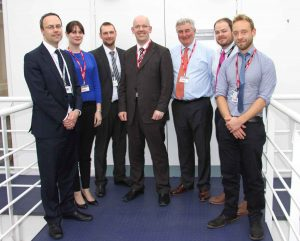 L-R: Mark Wardle, Director of Curriculum; Jennie Gill, Physics at Pool Academy; Matt Bennett, Deputy Team Leader for Science; David Cameron, Stimulating Physics Network Manager at Institute of Physics; Bill Gott, SW Regional Teaching & Learning Coach at Institute of Physics; Jon Grey, Programme Team Leader for Science; Richard Clarke, Physics at Roseland Community College.