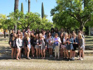 The group outside the Cathedral and Mosque in Córdoba.