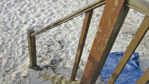beach damage porthmellon