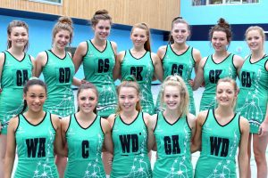 The successful Truro College Netball team.