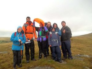 Students and staff facing blustery conditions on Dartmoor during Ten Tors.