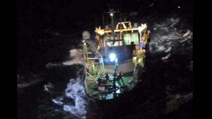 Trawler men rescued off Scilly Isles on board Dingle's Cú NaMara heading to Castletownbere. (Photo from the Irish Coast Guard).