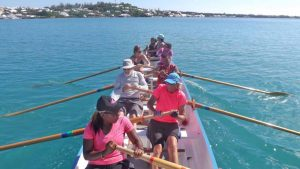 Bermuda Gig Club rowers. From the club's Facebook page.