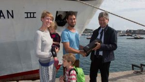 4millionth passenger on scillonian
