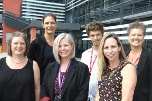 Back: Julia Hussey, Joshua Billington, Toni Drew - Spark Co-Ordinator & Lead Front: Leah Cross, Rona Freeman, Tara Stevens.