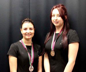 WorldSkills Silver medallist Shannon Morris and Bronze medallist Bethany Leach.
