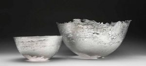 Rachael Osborne's pewter bowl, which has won her the Precious Metals Bursary.