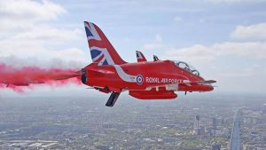 The Red Arrows. Copyright MoD/Crown