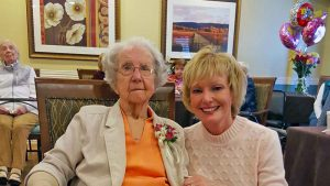 Sylvia Phillips with her granddaughter Sylvia Trundle